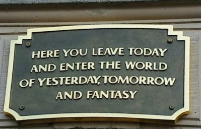 sign above disneyland entryway