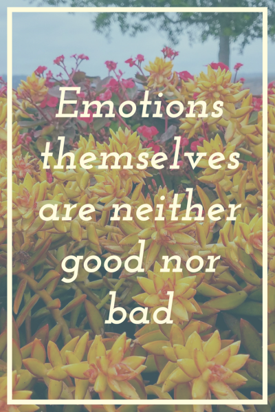 Emotions are morally neutral