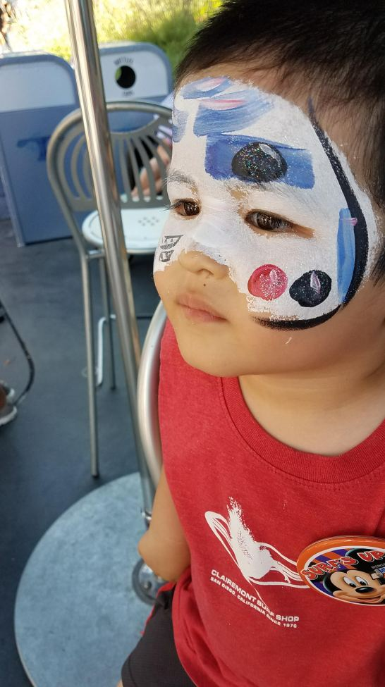 First Face Paint - R2D2
