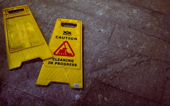 Cleaning sign